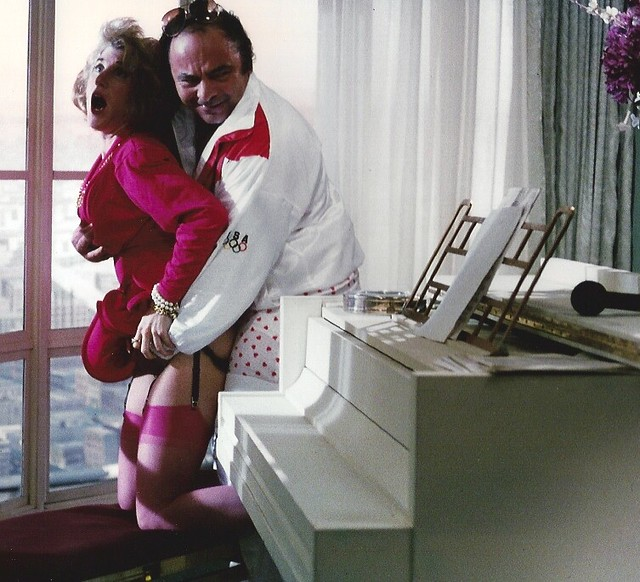 Harry (Burt Young) having a little fun with his wife's best friend ...