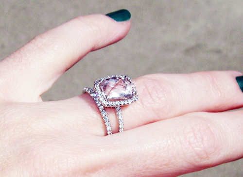 Engagement Rings Pink Tourmaline