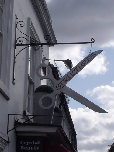 Structures - Hair & Beauty - 193 High Street, Henley-in-Arden - scissors sign