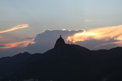 Christ the Redeemer (Cristo Redentor) and Corcovado at dusk