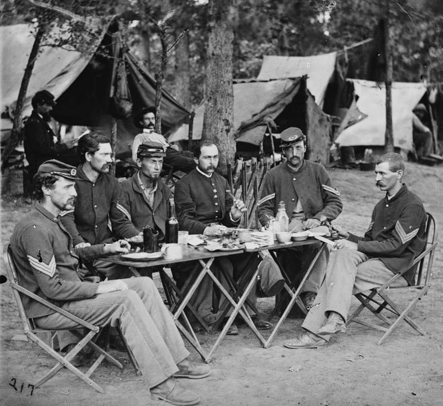 Noncommissioned Officers Mess of Company D, 93d New York Infantry - Bealeton, VA, Aug 1863