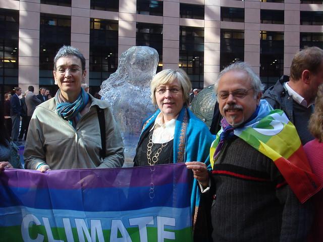 Ulrike Lunacek, Michalis Tremopoulos und ich (20.10.-EP in Straßburg)