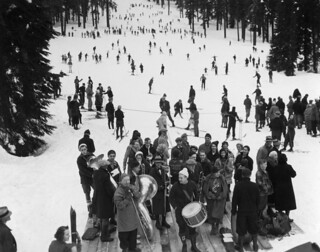 Opening of Snoqualmie ski park, 1934