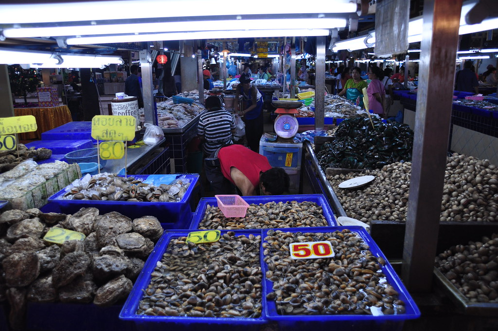 Seafood on Fresh Market in Patong