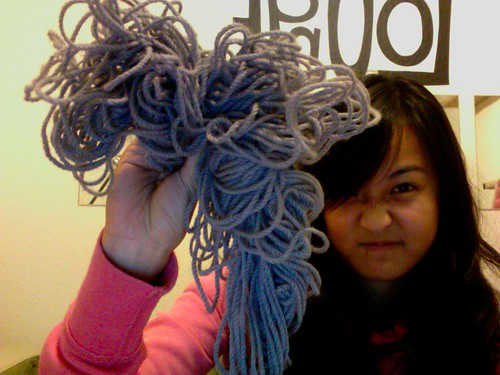 january 4th, 2010: this is what a skein left around a house with 2 cats looks like