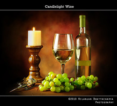 Wine under candlelight
