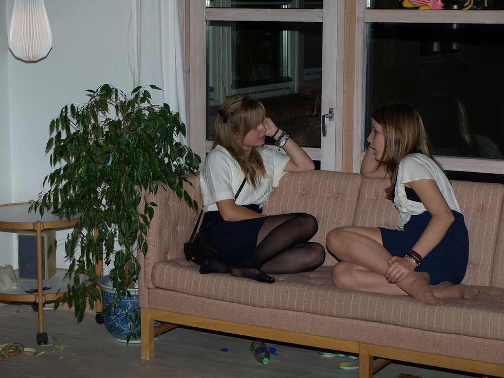 Candid nylon pantyhose feet amp soles under chair 8