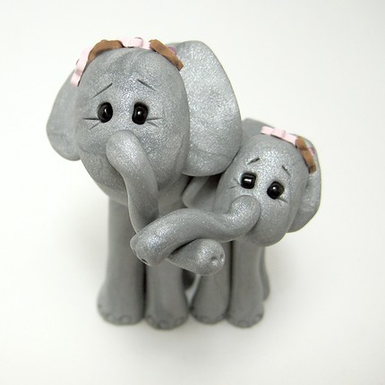 elephant mommy baby shower cake topper flickr photo sharing