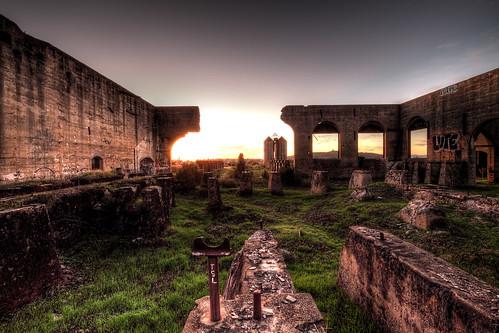 california longexposure sunset abandoned buildings graffiti ruins industrial factory decay cement silo hdr mushroomcloud atombomb americancanyon nuclearholocaust nuclearwasteland
