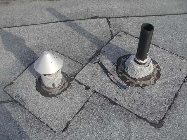 Roof Leaking Plumbing And Vent Stack Flickr Photo Sharing