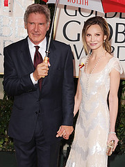 2010 Golden Globes - Harrison Ford and Calista Flockhart