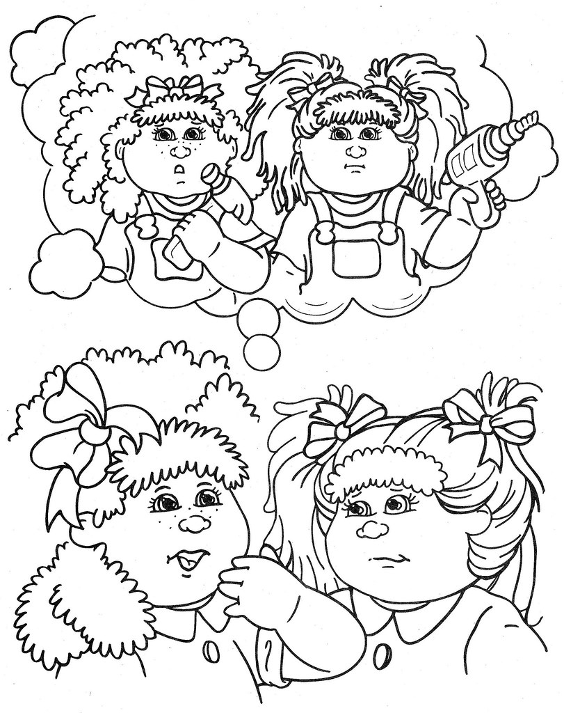 cabbage patch coloring pages - photo#14
