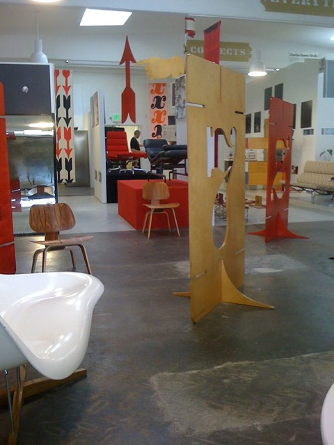 Eames/House Industries Show setup...