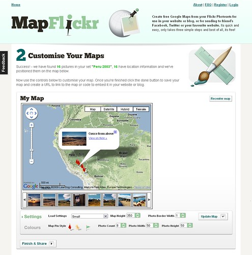 iMapFlickr - create your own Google and Flickr mashups by Frame Digital