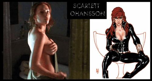 widow nude black marvel