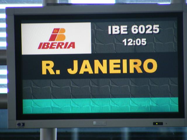 Announcing Iberia flight 6025 to Rio de Janeiro