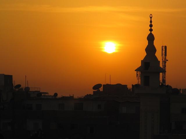Sunset over Luxor, Egypt