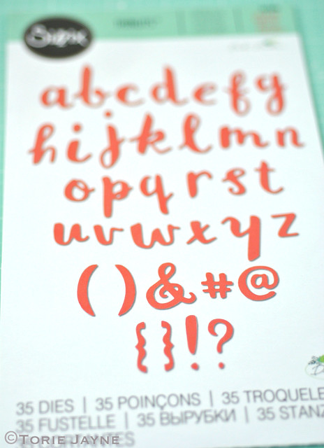 Sizzix Thinlits Die Set 38PK - Brush Lowercase Alphabet