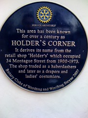 Photo of Holder's blue plaque