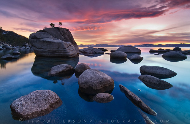 Bonsai Rock - Lake Tahoe, Nevada - Wide Angle Photography