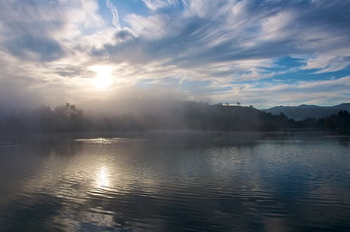 ca lake fog sunrise day almadenlakepark sanjose3 mistclouds