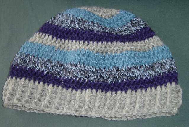 Striped crochet hat for the homeless Flickr - Photo Sharing!