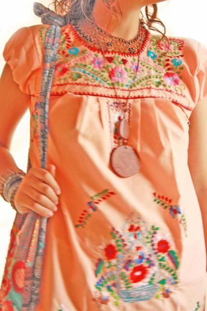 Ying yang Mexican dress