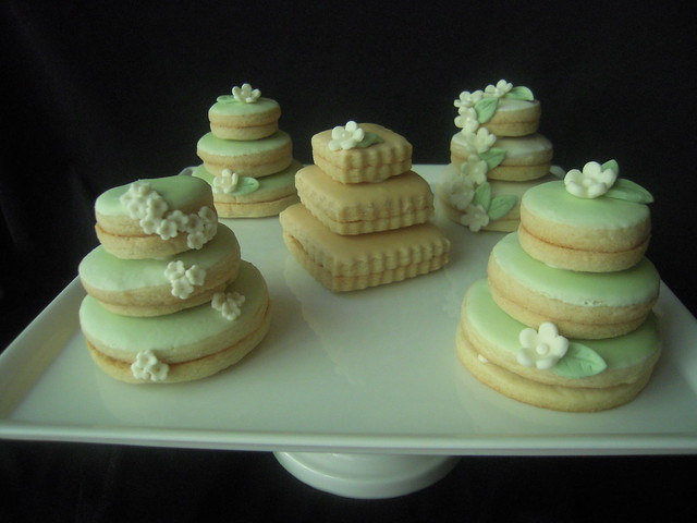 stacked wedding cake cookie favors wedding cake cookies flickr photo 20462