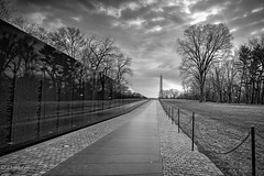 Two Monuments in B&W
