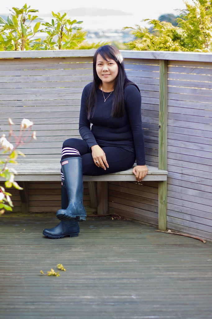 skirt with boots and tights