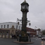 HSBC bank and the Joseph Chamberlain Memorial Clock - Jewellery Quarter, Birmingham