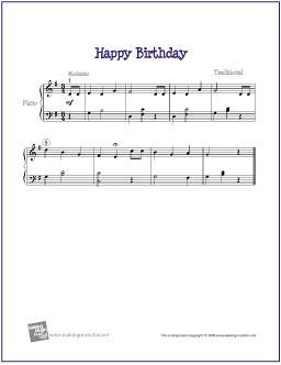happy birthday notes for piano pdf