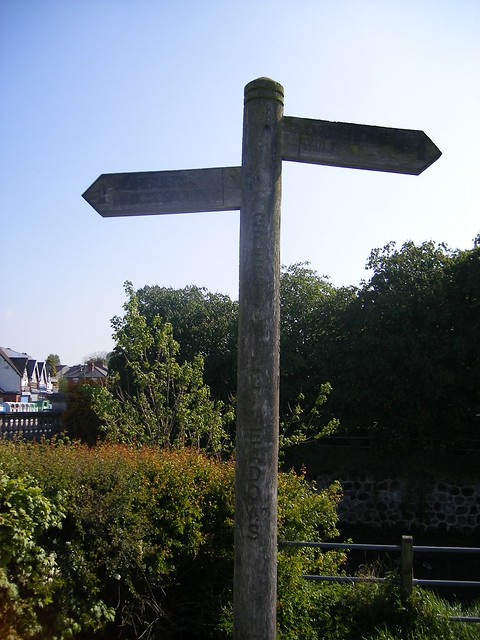 The River Cole - sign post - Greet Mill Meadows