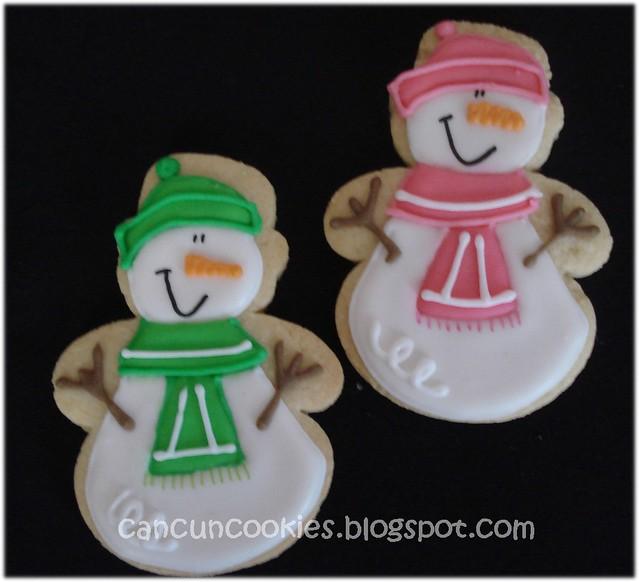 Preppy Snowmen COOKIES