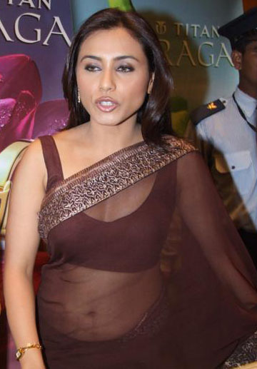 Fantasy Rani mukherjee hot transparent saree opinion