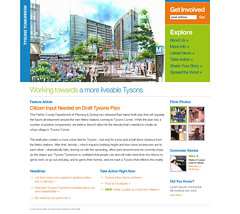 Tysons Tomorrow Website (2009)