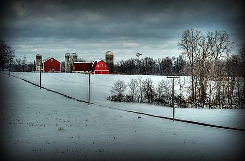 winter ohio red snow barn landscape geotagged nikon raw nef hdr photomatixpro canalfultonohio d3s starkcountyohio nikongp1 pse8 nikkor70200vrii