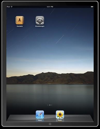 iPad Homescreen