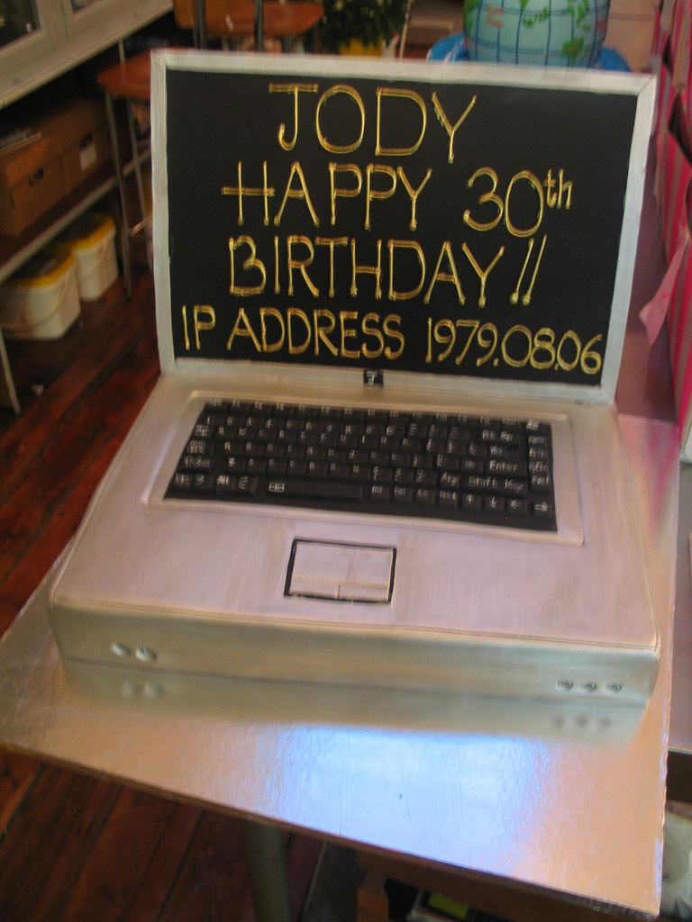 Laptop Computer Birthday Cake A Photo On Flickriver