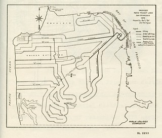 Proposed Rapid Transit Lines, San Francisco (1935)