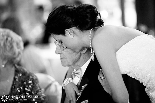 Bride and her grandfather