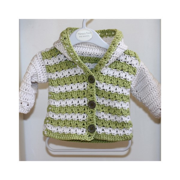 Crochet Baby Hooded Sweater Pattern Free : HOODED CARDIGAN PATTERNS Free Patterns