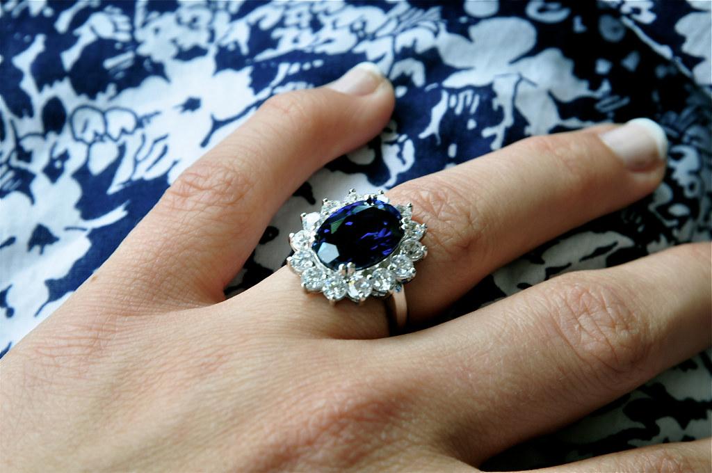 my birthday present replica engagement ring princess diana kate middleton - Princess Kate Wedding Ring