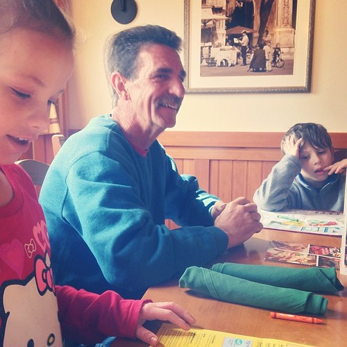 We went to lunch with my dad yesterday.  Xoxo #latergram
