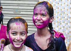 Cute Smiles on Holi