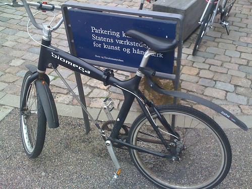 Unusual folding bike