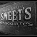 Sweets Chocolate Sign Panguitch BW 12x9.6