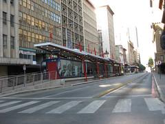 Bus stop, Market St, Johannesburg