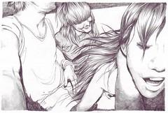 manga(0.0), anime(1.0), sketch(1.0), figure drawing(1.0), drawing(1.0), cartoon(1.0), monochrome(1.0), illustration(1.0), black-and-white(1.0),
