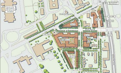 Site plan, Brookland-Catholic University development by the Abdo Development Company
